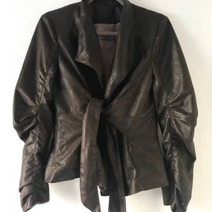 Zara brown jackets and coats size M